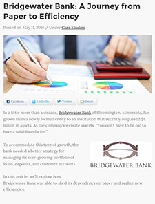 Bridgewater Bank- A Journey from Paper to Efficiency