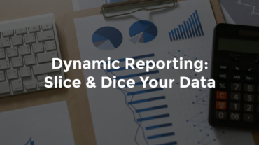 """Reports with bar graphs and pie graphs and text, """"Dynamic reporting - slice and dice your data"""""""