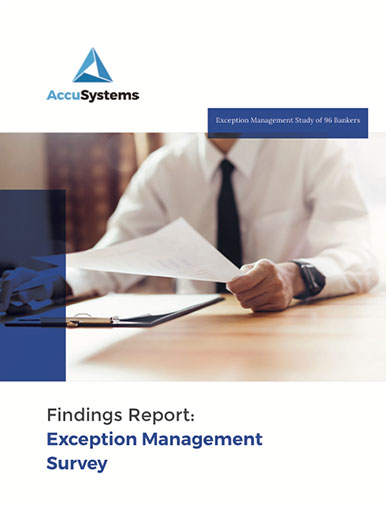 Cover of exception management report